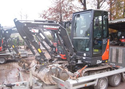 Minibagger Eurocomach 22SR seite - Dirkes Baumaschinen